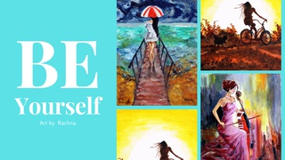 """featured image thumbnail for post """"Be Yourself"""" - Art Challenge"""