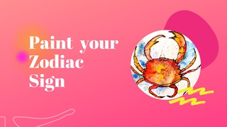 featured image thumbnail for post Paint a Zodiac Sign