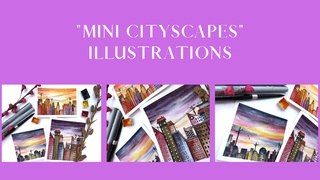 """featured image thumbnail for post """"Mini Cityscapes"""" - Illustrations Challenge"""