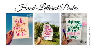 """featured image thumbnail for post """"Hand-Lettered Poster"""" Art Challenge"""
