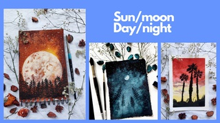 featured image thumbnail for post Sun/Moon - Day/Night Art Challenge