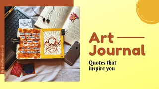 """featured image thumbnail for post Art Journal Prompt -  """"Quotes that inspire you"""""""