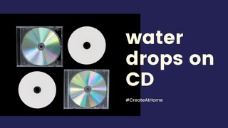 """featured image thumbnail for post """"Water Drops on CD"""" - Photography Challenge"""