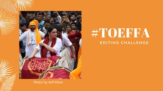 featured image thumbnail for post #TOEFFA Editing Challenge