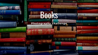 """featured image thumbnail for post """"Book(s)"""" - Photography Challenge"""