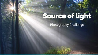 """featured image thumbnail for post """"Source of light"""" - Photography Challenge"""