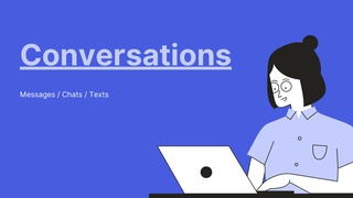 featured image thumbnail for post Conversations - Writing Challenge