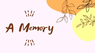 featured image thumbnail for post A Memory - Writing Challenge