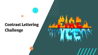 featured image thumbnail for post Contrast Lettering - Art Contest