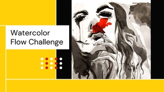 featured image thumbnail for post Watercolor Flow - Art Challenge