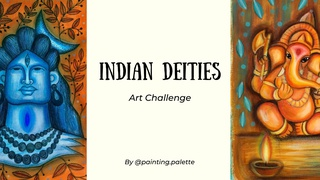 featured image thumbnail for post Indian Deities - Art Challenge