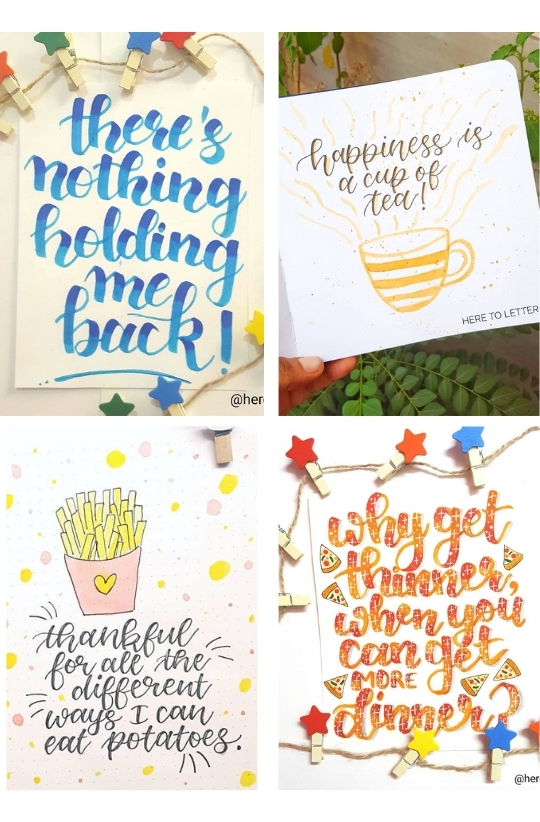 Sample Images for Faux Calligraphy - Art Challenge