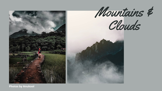 "featured image thumbnail for post ""Mountains & Clouds"" - Travel Photography Challenge"