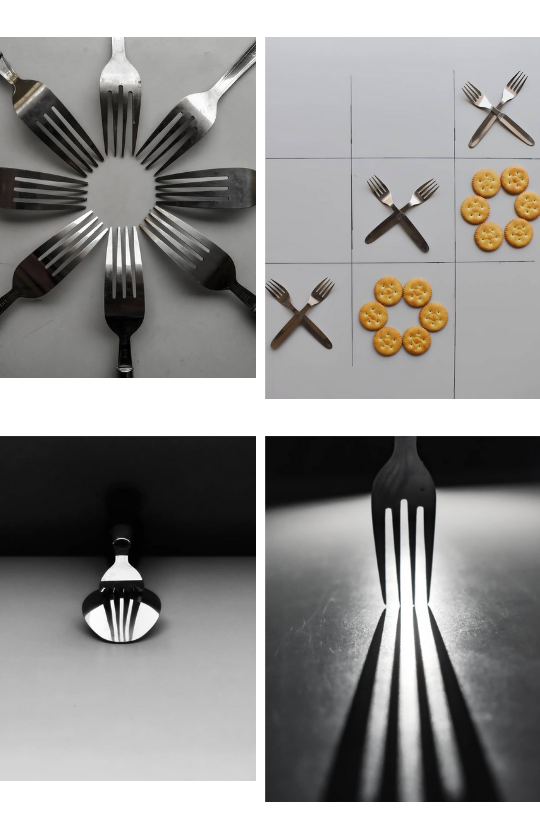 Sample Images for Fork Photography Experiments