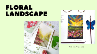 "featured image thumbnail for post ""Floral Landscape"" - Art Challenge"