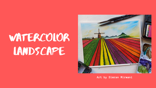 "featured image thumbnail for post ""Watercolor landscape"" - Art Challenge"