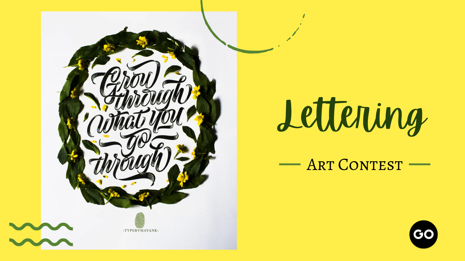 featured image thumbnail for post Lettering Art Contest